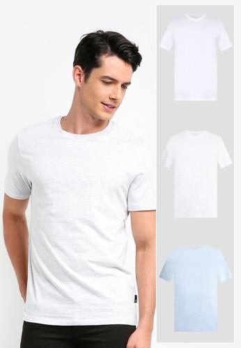 Burton Menswear London 米褐色 素色圓領短袖T恤 E6B24AADDC99A3GS_1