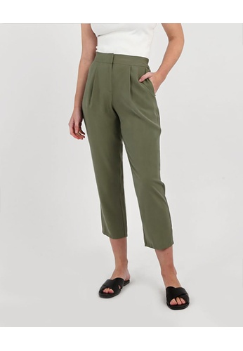 FORCAST green FORCAST Wyatt Tapered Trousers 1ADFFAA879241EGS_1