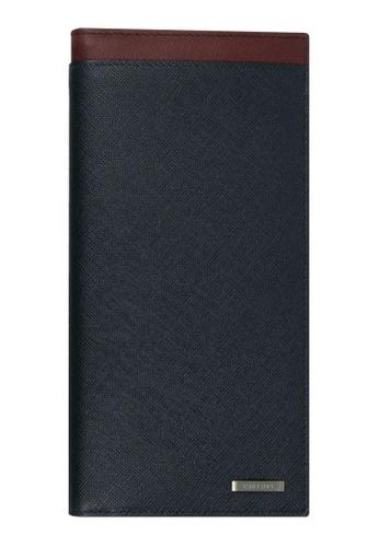 CROSSING black Crossing Ebony Long Leather Wallet RFID - Burgandy/Indian Ink 9E32AACF23F64FGS_1