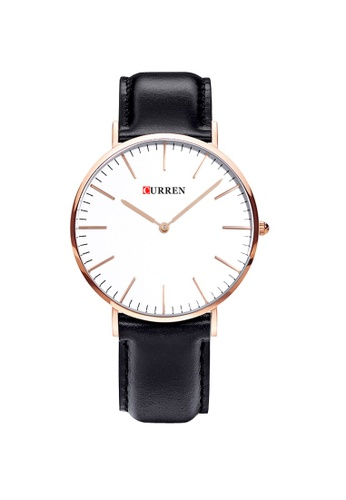 curren CURREN 8209 Ladies's Classic Leather Watch (Gold Black) CU537AC88SUHMY_1