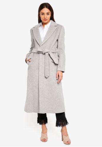 Jack Wills grey Blythe Long Robe Coat D8500AA4F9C0F1GS_1