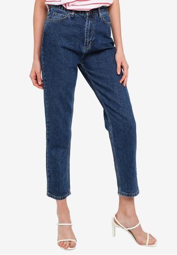 Trendyol blue Indigo High Waist Mom Jeans 10F0BAAAB21E2EGS_1