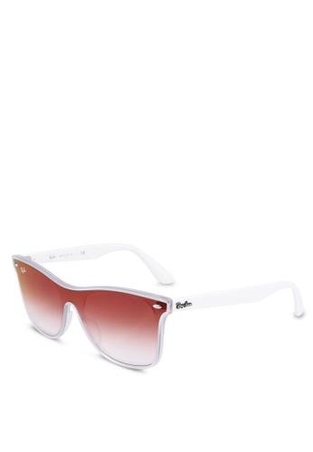 Ray-Ban 白色 Ray-Ban RB4440NF Sunglasses B983FGL0DF44FAGS_1
