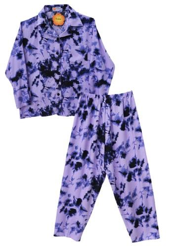 Tahlia purple Piyama Tie Dye Tahlia One Set Pyjamas 12DBFAA7AF0DF2GS_1