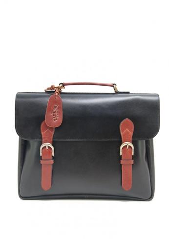 The Tannery Manila black Baris Leather Messenger Bag 2249EAC1E16875GS_1