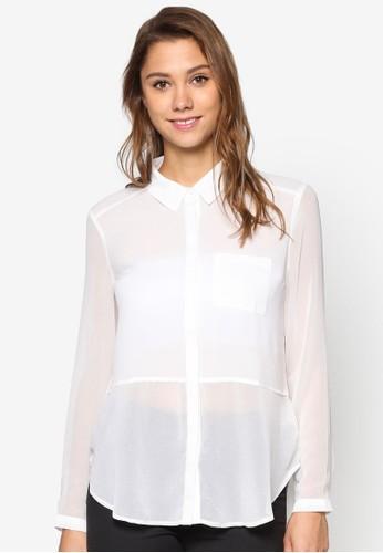 雪紡長袖襯衫, 服飾esprit 衣服, 上衣