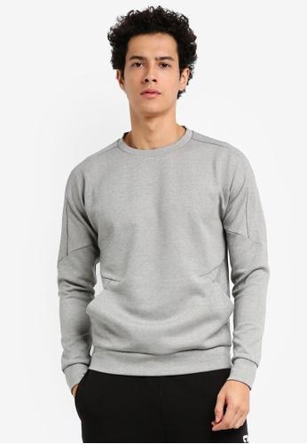 Calvin Klein grey Tech Sweat Pullover - Calvin Klein Performance 34191AA84C1C46GS_1