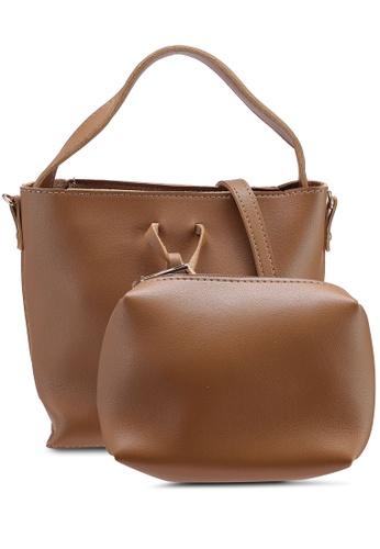 Berrybenka brown Silla Catsep Shoulder Bag E6045AC6A8ED8EGS_1