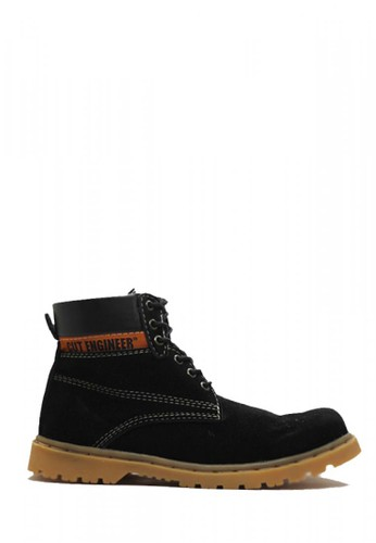 Cut Engineer black Cut Engineer Shoes Safety Boots Rubben Leather Black 8D061SHA74C076GS_1