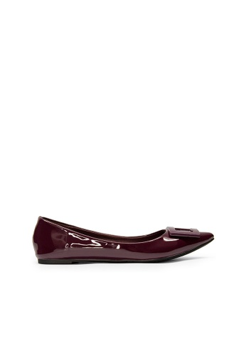 SEMBONIA red Women Synthetic Leather Ballet Flat 31519SHDF53958GS_1