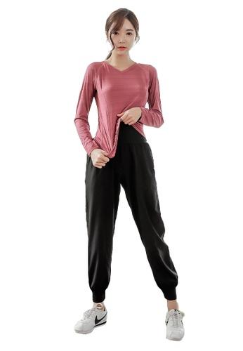 YG Fitness multi (3PCS) Quick-Drying Running Fitness Yoga Dance Suit (Tops+Bra+Bottoms) 6F71EUS2241436GS_1