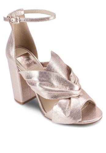 Candy 蝴蝶結esprit 台中羅馬粗跟涼鞋, 女鞋, 鞋