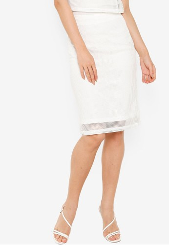 ZALORA OCCASION white Co-Ord Lace Skirt 25D80AA764DB33GS_1