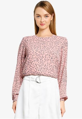 Vero Moda pink and orange Lulu Dorit Long Sleeves blouse F17BCAAC002B01GS_1
