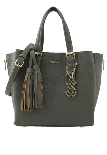 SEMBONIA grey SEMBONIA Synthetic Leather Satchel Bag (Light Grey) 9073AAC63D4D67GS_1
