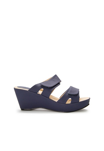 SEMBONIA blue SEMBONIA Synthetic Leather Wedges (Dark Blue) 4C564SH140D519GS_1