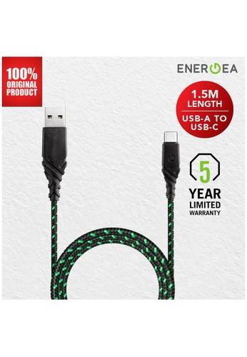 Energea green Kabel Data USB-A to USB-C 1.5m - Duraglitz - Energea - Green E9F8CES60F70FFGS_1