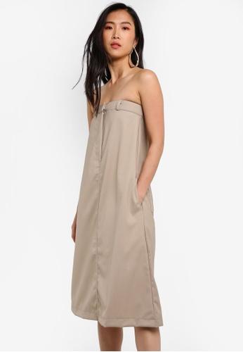 Stylenanda beige A-Line Dress ST343AA0RV8KMY_1