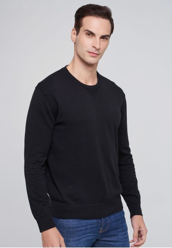 United Colors of Benetton black Cashmere Blend Sweater 38BB8AA525D2D7GS_1