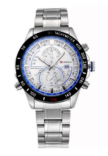 curren black and blue Curren 8149 Men's Sport Stainless Steel Watch (Black Blue) CU537AC28SYTMY_1