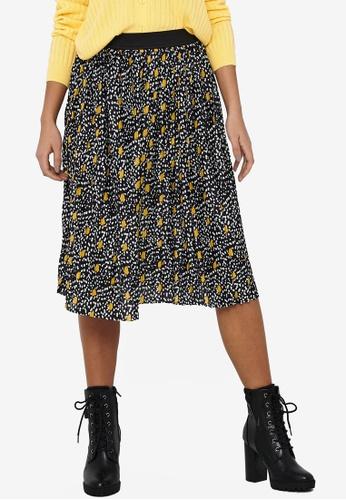 JACQUELINE DE YONG navy Boa Skirt 86B13AA41D09B5GS_1
