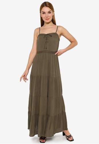 JACQUELINE DE YONG green Iris Sleeveless Ankle Dress 3A5E7AA18972D8GS_1