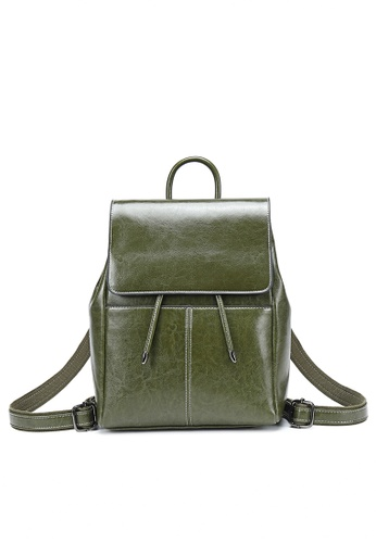 Twenty Eight Shoes green Vintage Cow Leather Backpack 332-2 7DC3AACA0D8A41GS_1