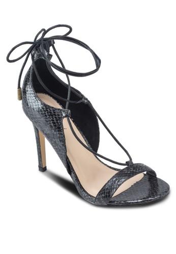 暗紋多帶高跟涼鞋、 女鞋、 鞋SomethingBorrowed暗紋多帶高跟涼鞋最新折價