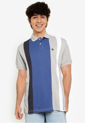 Springfield grey Horizontal Striped Polo Shirt F99CDAAABE5EEFGS_1
