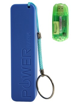 iPower 2600 mAh POWER BANK (BLUE) With FREE 4-in-1 Card Reader (IN A RAMDOM COLOR)