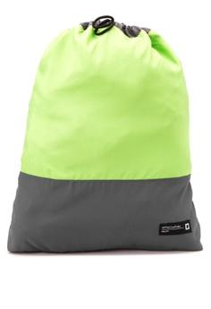 Men's Color Blocked Drawstring Backpack