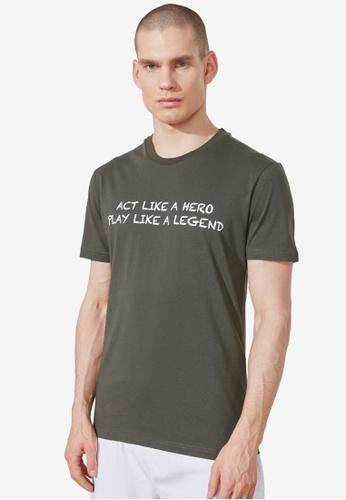 Trendyol green Regular Fit T-Shirt 95886AAC5CC3FFGS_1
