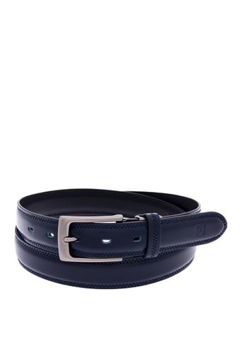 Louis Quatorze navy Men's Leather Belt LO321AC01BRQSG_1