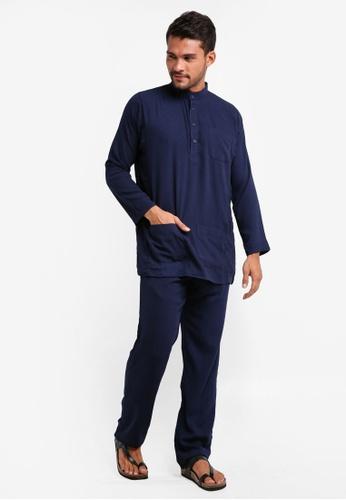 Lubna blue Baju Melayu Cekak Musang 23E45AA4F65478GS_1