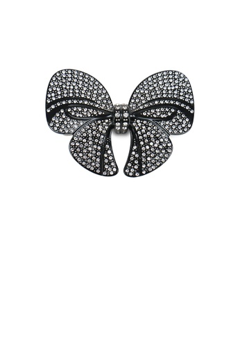 Glamorousky black Fashion Bright Ribbon Hair Slide with Cubic Zirconia 42D3BACCEA70E5GS_1