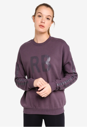 Running Bare grey Oversized Crew Neck Sweatshirt C40E4AA66BAABBGS_1