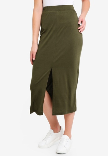 ZALORA BASICS brown Basic Midi Skirt BC7FEAA6F05A57GS_1