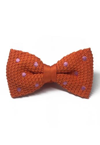 Splice Cufflinks orange Webbed Series Light Purple Polka Dots Orange Knitted Bow Tie SP744AC06UARSG_1