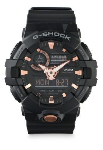 G-Shock black Casio G-SHOCK Jam Tangan Pria - Black Rosegold - Resin - GA-710B-1A4DR 50FB3AC2C5C1BEGS_1