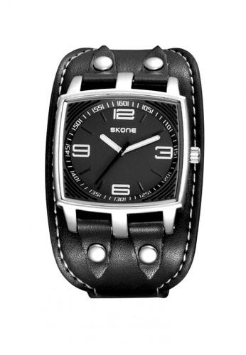 Sk Time Watch Shop black Japan Design Skone Leather Watch 0F9BCACD4C8405GS_1