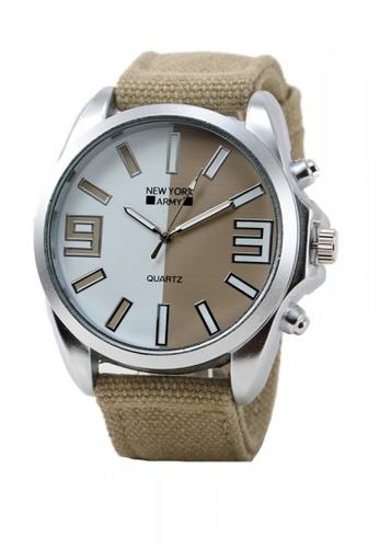 Greatvalueplus brown Maynard Men's Analog Nylon Watch NYA321 61B9CAC455759FGS_1