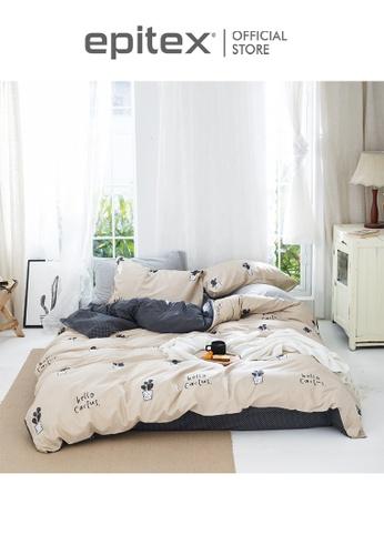 Epitex multi Epitex CK2032-5 900TC 100% Cotton Single Bedset - Fitted Sheet Set B2A3AHLFB136C9GS_1