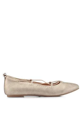 Bata gold Lace Up Ballerina Flats 862B9SH49D089AGS_1