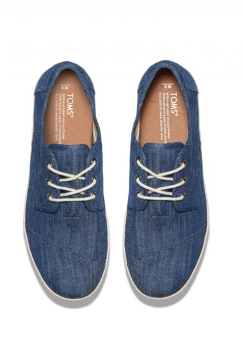 b683c845b88 Buy TOMS TOMS - MF Light Blue Chambray Paseo Lace-Up MN Online ...