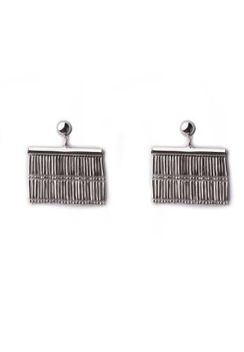 Gung Jewellery silver Hana Tassel Earrings in Silver BAD6AACC5479FAGS_1
