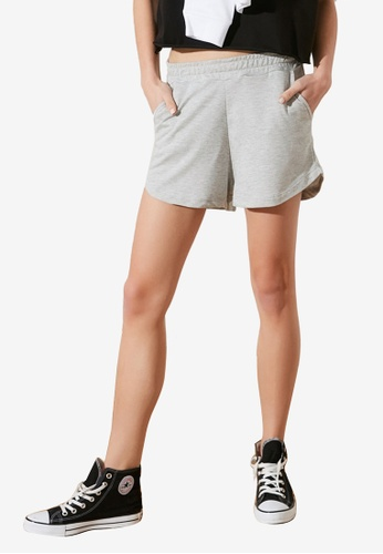 Trendyol grey Knitted Shorts 3CF8EAA99F681BGS_1