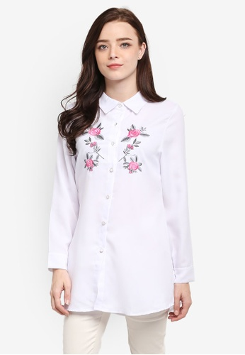 BYN white Embroidery Shirt 7F9B3AA785771DGS_1