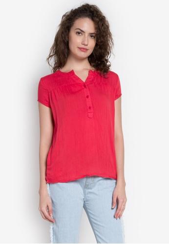Freego red Ladies Basic Shirt FR760AA0JW5IPH_1