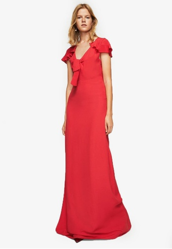 Mango red Bow Gown MA193AA0RV15MY_1