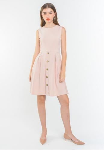 L'zzie pink LZZIE LENDONS DRESS - PINK D579BAA94CD347GS_1